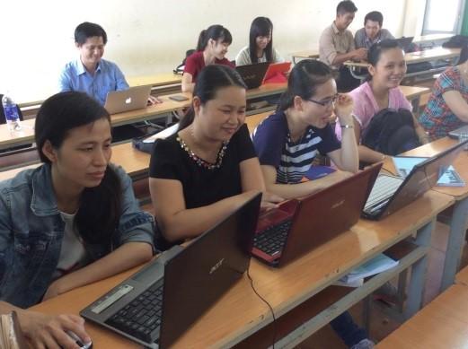 Cursisten in Vietnam