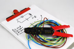 Notepad, stripping, cable assemblies and a little schematic of Ohm's law